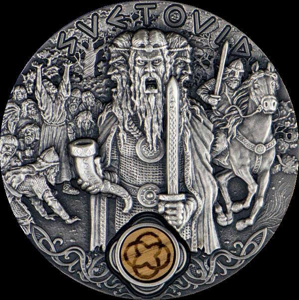 Ниуэ выпускают монету 2 доллара Святовит, реверс