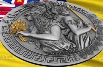 Ниуэ выпускают монету 5 долларов Афина и Минерва