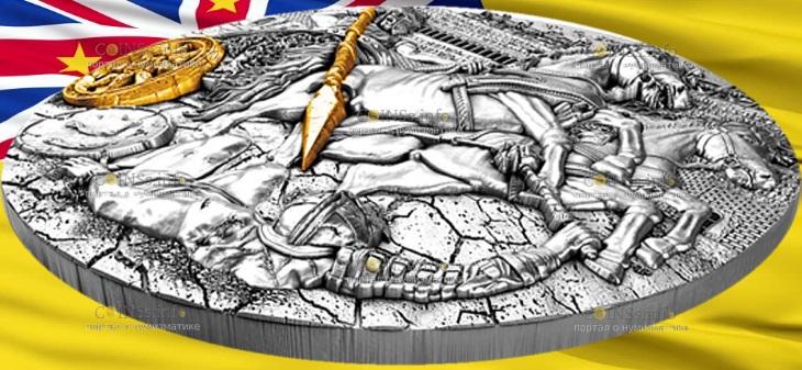 Ниуэ выпускают монету 5 долларов Боевая колесница