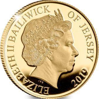 Остров Джерси монета один пенни 75-летний юбилей Дня Д, аверс