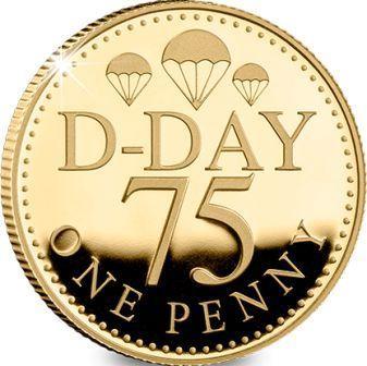Остров Джерси монета один пенни 75-летний юбилей Дня Д, реверс