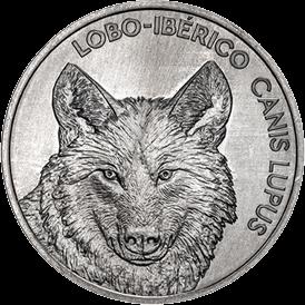 Португалия монета 5 евро Иберийский волк, реверс