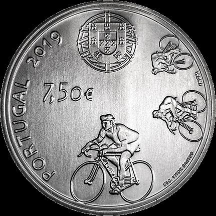 Португалия монета 7,5 евро Жоаким Агостиньо, аверс