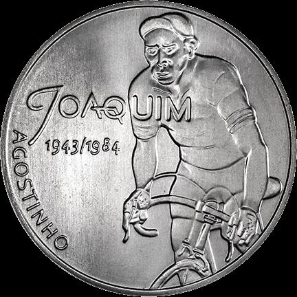 Португалия монета 7,5 евро Жоаким Агостиньо, реверс