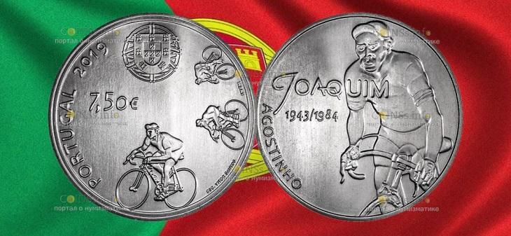 Португалия монета 7,5 евро Жоаким Агостиньо