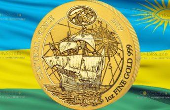 Руанда монетау 100 франков Судно Виктория