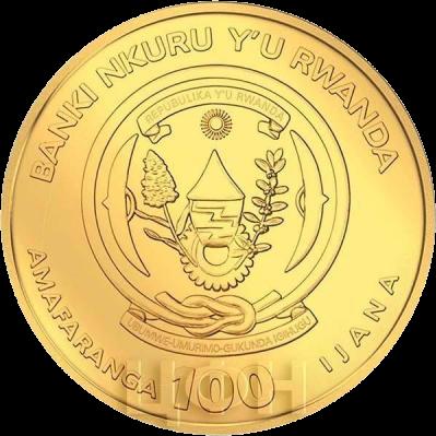 Руанда монетау 100 франков Судно Виктория, аверс