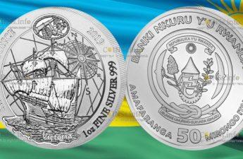 Руанда монетау 50 франков Судно Виктория