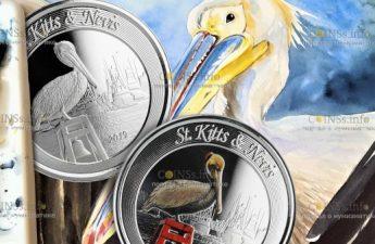 Сент-Китс и Невис выпускает серию монет Пеликан