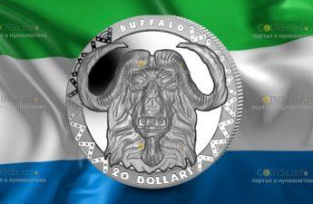 Сьерра-Леоне монета 20 долларов Буффало