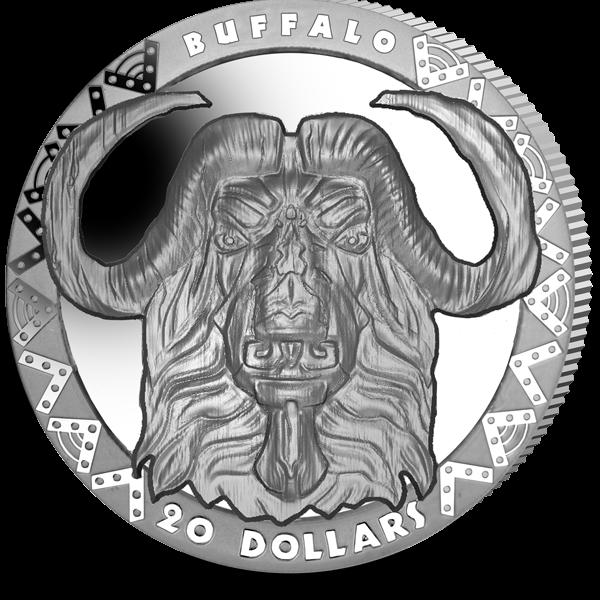 Сьерра-Леоне монета 20 долларов Буффало, реверс