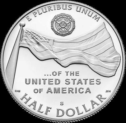 США монета 1-2 доллара 100-летию Американского легиона, реверс