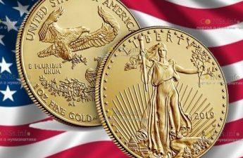 США монета 50 долларов Американский орел