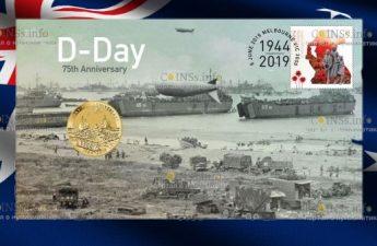 Тувалу монета 1 доллар День-Д