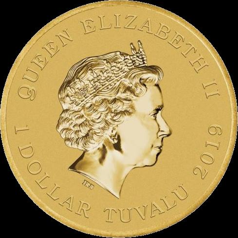 Тувалу монета 1 доллар День-Д, аверс