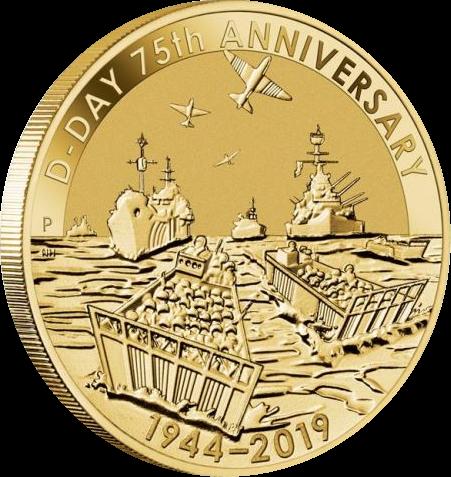 Тувалу монета 1 доллар День-Д, реверс