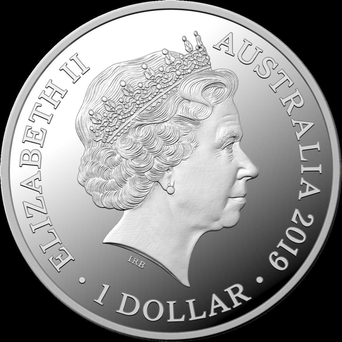 Австралия монета 1 доллар 50 лет высадки на Луне, аверс