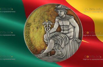 Камерун монета 3000 франков КФА Меркурий