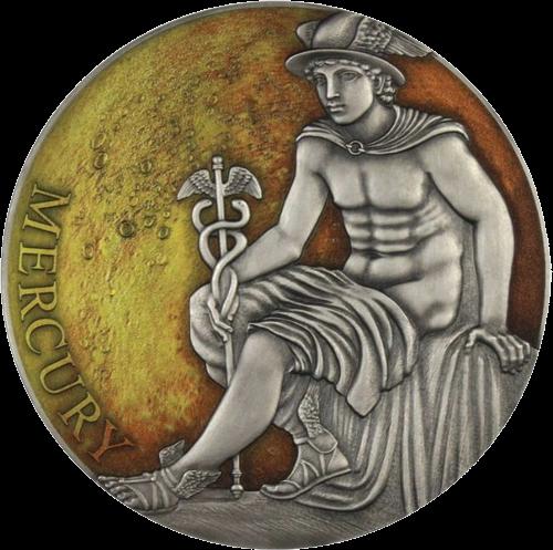 Камерун монета 3000 франков КФА Меркурий, реверс