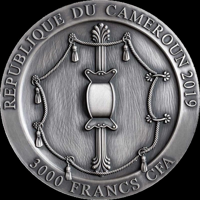 Камерун монета 3000 франков КФА Спартанский гоплит, аверс