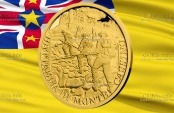 Ниуэ монета 5 долларов Битва под Монте-Кассино
