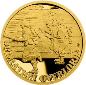 Ниуэ монета 5 долларов операция OVERLORD, реверс