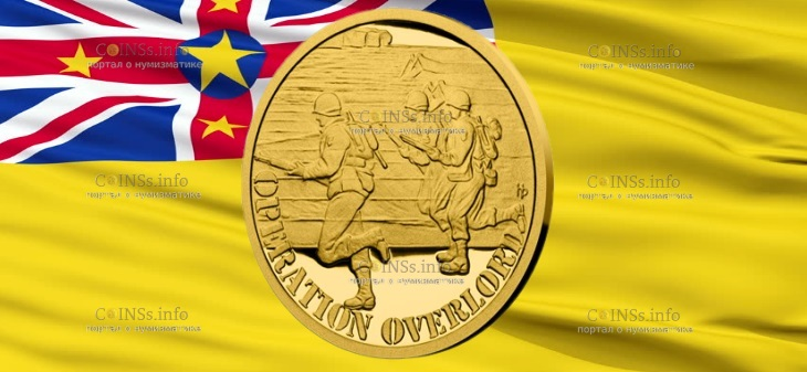Ниуэ монета 5 долларов операция OVERLORD