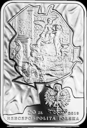 Польша монета 20 злотых 450 лет Елена Моджеевская, аверс