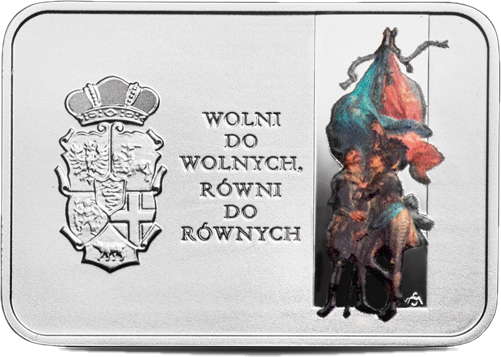 Польша монета 20 злотых 450 лет Люблинской унии, реверс