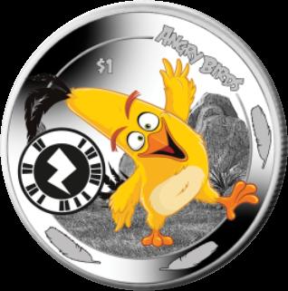 Сьерра-Леоне монета 1 доллар птица Чак, реверс