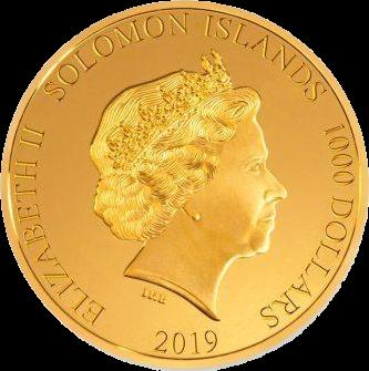 Соломоновы острова монета 1000 доллар, аверс