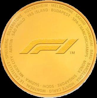 Соломоновы острова монета 1000 доллар Формула-1 2019, реверс