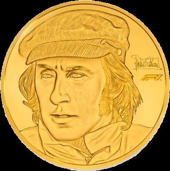 Соломоновы острова монета 1000 доллар Сэр Джеки Стюарт, реверс