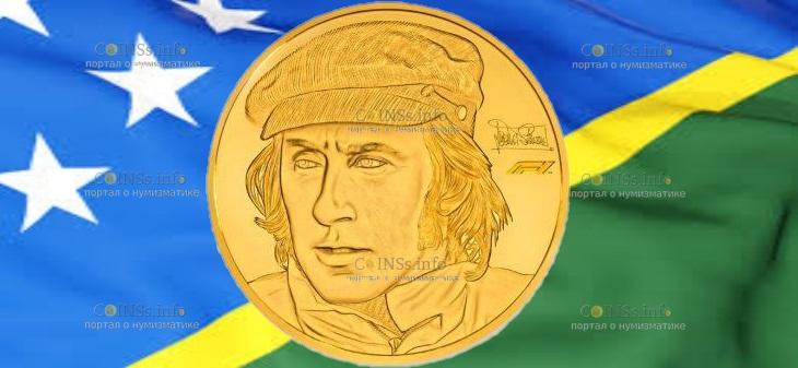Соломоновы острова монета 1000 доллар Сэр Джеки Стюарт