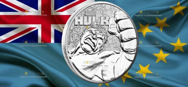 Тувалу монета 1 доллар Халк