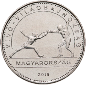 Венгрия 50 форинтов Чемпионат мира по фехтованию 2019, реверс