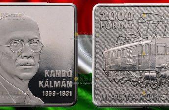 Венгрия монета 2000 форинтов Кальман Кандо