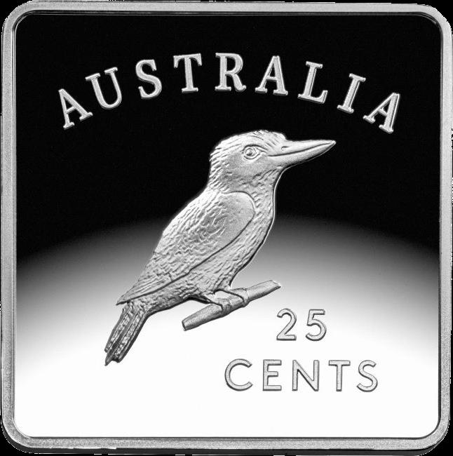 Австралия монета 25 пенни Австралийский кукабурра 1, реверс