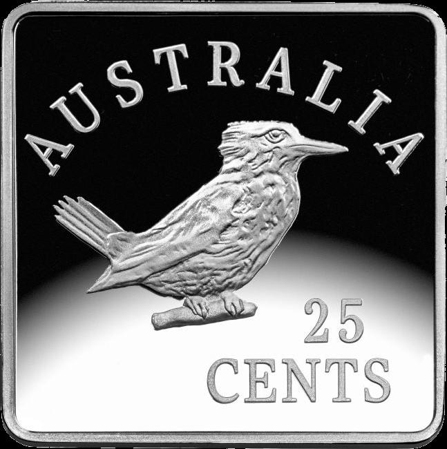 Австралия монета 25 пенни Австралийский кукабурра 2, реверс