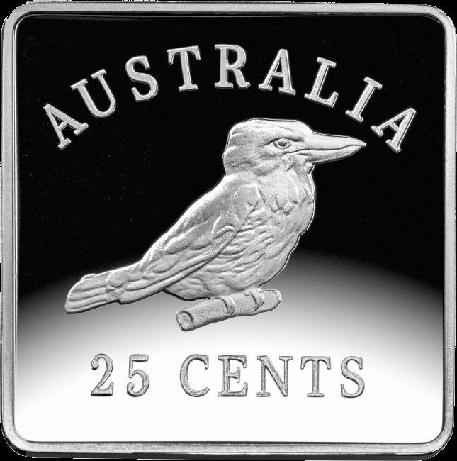 Австралия монета 25 пенни Австралийский кукабурра 3, реверс