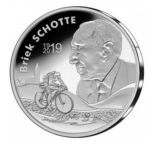 Бельгия монета 10 евро Брик Шотт, реверс