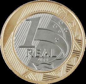 Бразилия монета 1 реал 25 лет введения реала, аверс