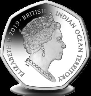 Британские территории в Индийском океане монета 50 пенсов, аверс