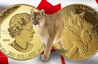 Канада монета 350 долларов Пума