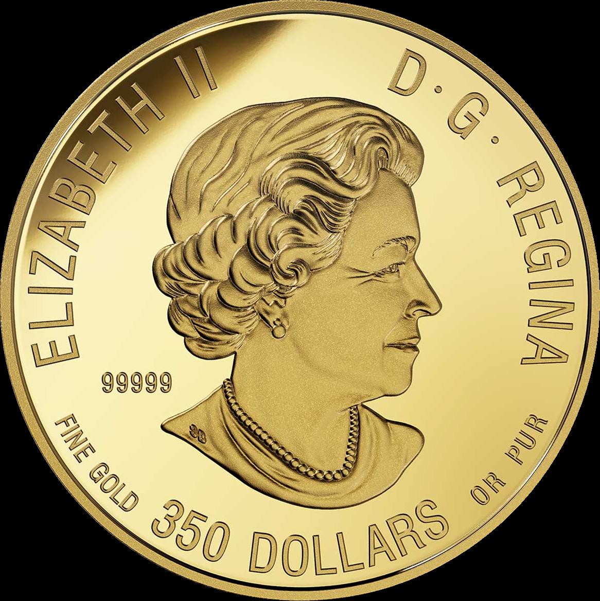 Канада монета 350 долларов Пума, аверс