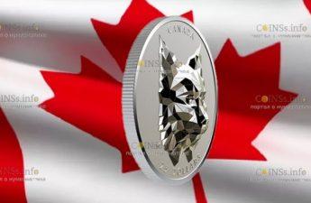 Канада отчеканила монету 25 долларов Рысь