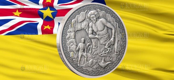 Ниуэ монета 2 доллара Аладдин