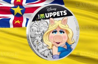 Ниуэ монета 2 доллара Мисс Пигги