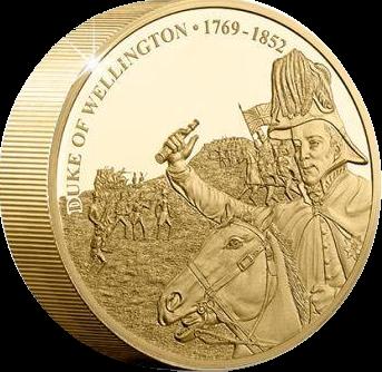 Острова Кука монета 1 доллар 250-летие со дня рождения герцога Веллингтона, реверс