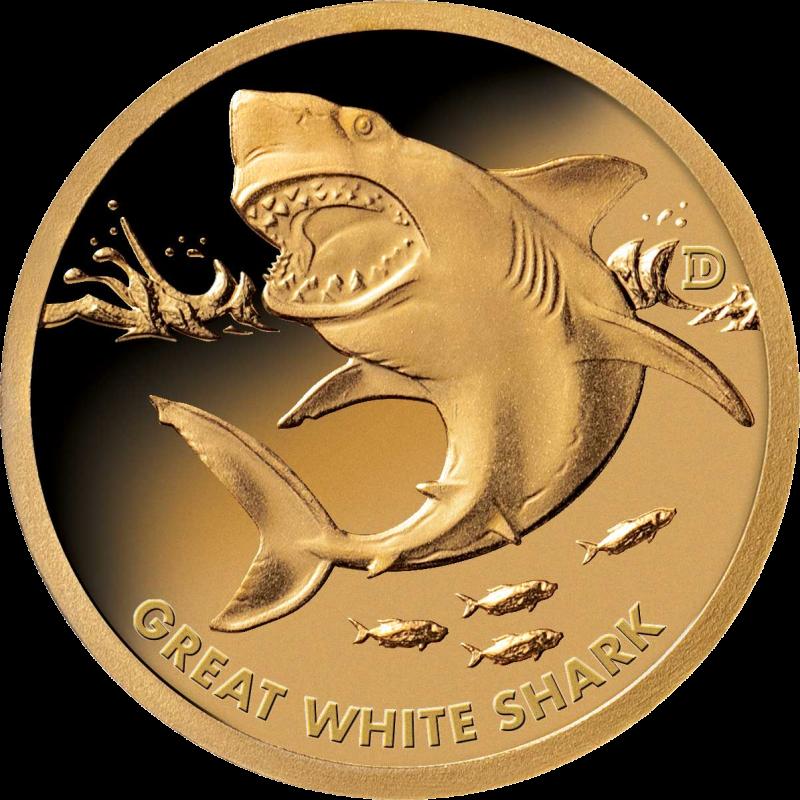 Соломоновы острова монета 1 доллар Белая Акула, реверс